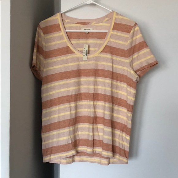 Madewell Tops - NWT Madewell Striped T-Shirt, Short Sleeves, Lg